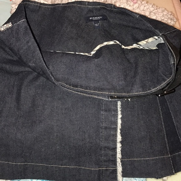 Burberry Dresses & Skirts - 100% authentic Burberry belted denim skirt